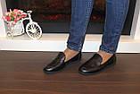 Туфли женские черные натуральная кожа Т1150, фото 7