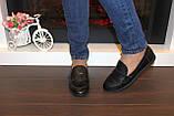 Туфли женские черные натуральная кожа Т1150, фото 8