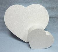 Сердце из пенопласта плоское, 15см