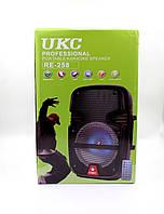 Портативна колонка UKC 8 / RE 258 + провідний мікрофон, фото 1