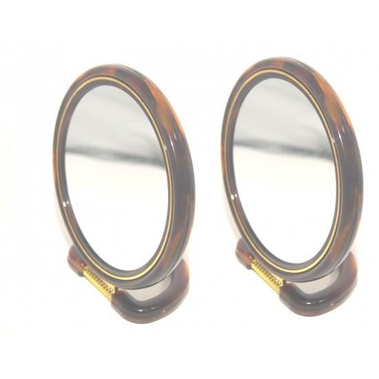 Зеркало двухстороннее овальное №6  (Высота - 15см, Ширина 10,5см)