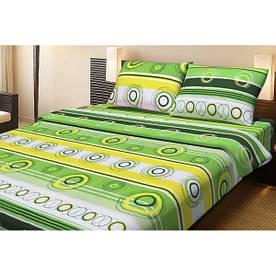 Постельное белье Lotus Ranforce Sweet зеленый двуспального размера