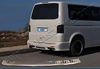 Накладка на задній бампер Volkswagen T5/ T6 (фольксваген т5/ Т6) з загином БЕЗ логотипу, OMSALINE нерж.