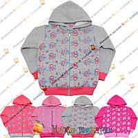 Кофты с капюшоном Начёс для девочек от 5 до 8 лет (3829)