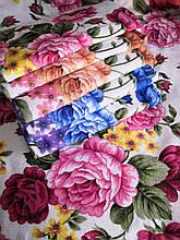 Полотенце лицо микс цветов 50х100