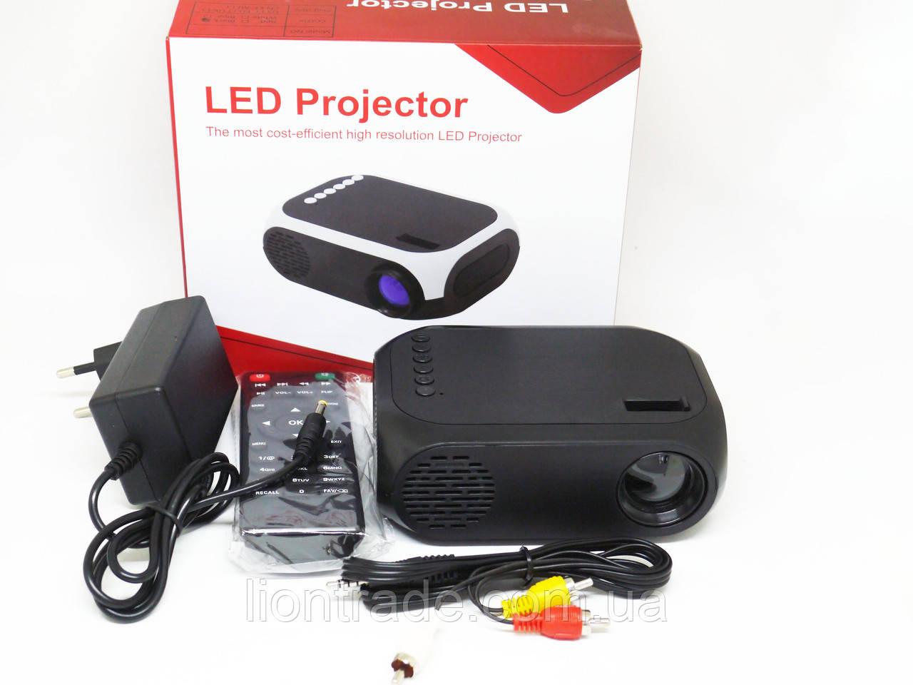 Мини проектор портативный мультимедийный Led Projector YG320C