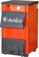 Бытовые твердотопливные котлы для частного дома Amica Optima AO 14P (с плитой) на дровах и угле