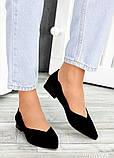 Туфли черная замша Volna 7488-28, фото 3