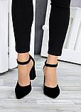 Туфли Bogemiya черная замша 7495-28, фото 2