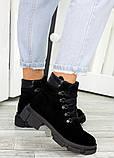Ботинки трапперы черная замша 7502-28, фото 2