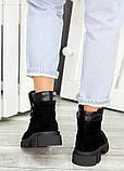Ботинки трапперы черная замша 7502-28, фото 4