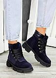 Ботинки трапперы синяя замша 7503-28, фото 3