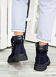 Ботинки трапперы синяя замша 7503-28, фото 4