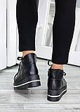 Ботинки на платформе черная кожа 7510-28, фото 5