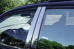 Молдинг дверних стійок (6 шт, нерж) для Mitsubishi L200 2006-2015 рр.