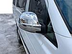Накладки на зеркала VITO 2004-2010 (2 шт) Carmos - турецкая сталь для Mercedes Viano 2004-2015 гг.