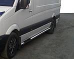 Opel Movano 2004-2010 гг. Боковые трубы (2 шт., нерж.) Длинная база