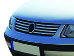 Volkswagen Passat B5 1997-2005 рр. Накладки на решітку (нерж) 2001-2005, OmsaLine - Італійська нержавійка