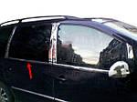 Volkswagen Sharan 1995-2010 рр. Окантовка вікон (4 шт, нерж) OmsaLine - Італійська нержавійка