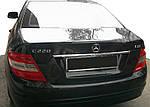 Mercedes C-Klass W204 Хром планка над номером (нерж)