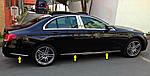 Mercedes E W213 Хром на молдинг дверной (6 шт, нерж)