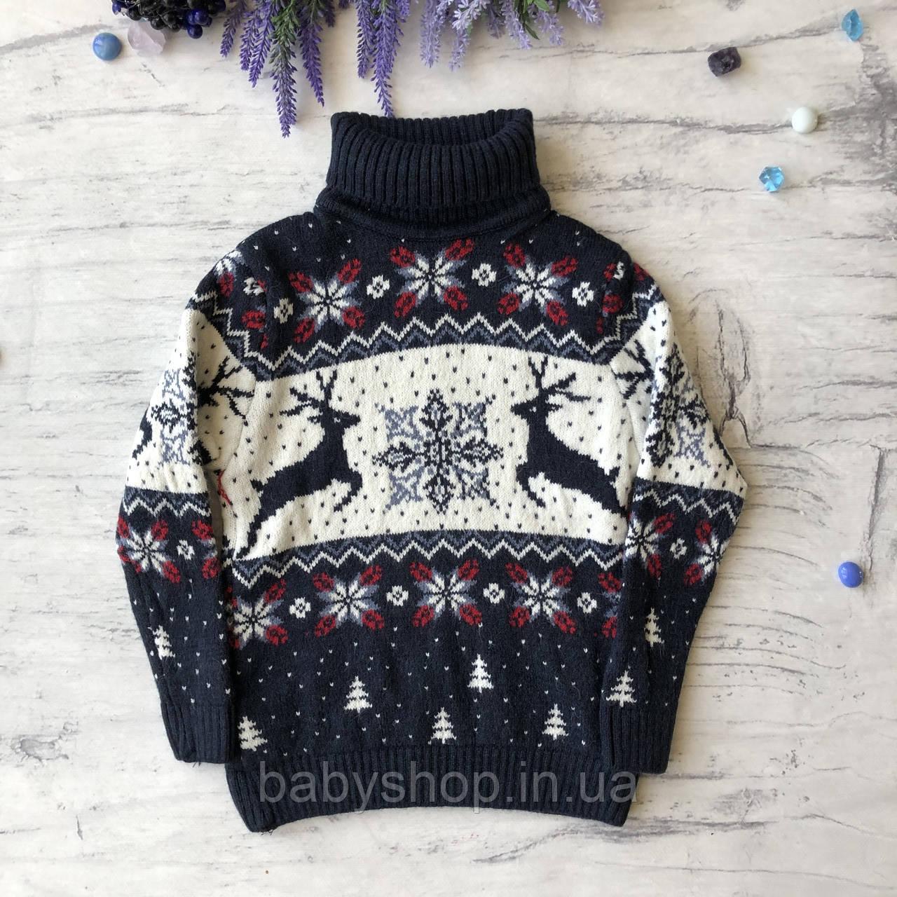 Теплый новогодний свитер на девочку 24. Размер 6 лет, 8 лет