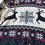 Теплый новогодний свитер на девочку 24. Размер 6 лет, 8 лет, фото 2
