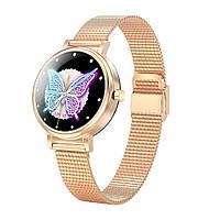 Умные часы Linwear LW06 Metal с измерением давления (Золотой)