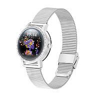 Умные часы Linwear LW20 Metal с тонометром (Серебристый), фото 1