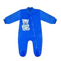 Теплый детский комбинезон Панда для мальчика велсофт