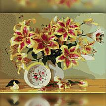 TWD10080 Набор алмазной вышивки Яркие лилии в вазе, 30х40 см, фото 2