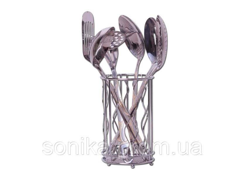 Набір кухонного приладдя 7 предметів з нержавіючої сталі Kamille KM-5231