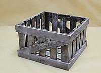 Ящик декоративный ДЯБ-1   КОРИЧНЕВО-БЕЛЫЙ (большой, квадратный)