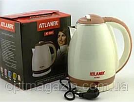 Дисковий Електрочайник Atlanfa AT-H01 2л. Бежевий