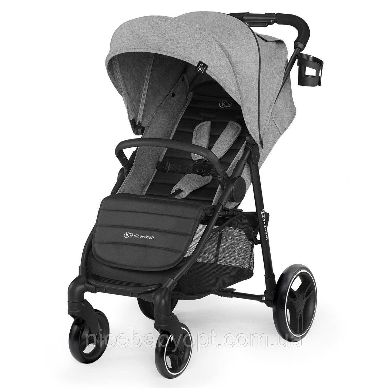 Прогулянкова коляска Kinderkraft Grande City Grey (KKWGCITGRY0000)