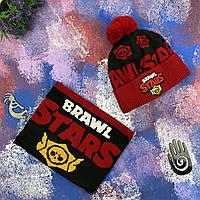 """Шапка """"Бравл Старс"""" + Снуд """"Brawl Stars"""", фото 1"""
