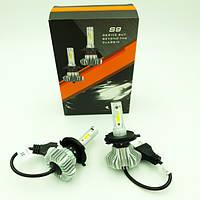 Светодиодные лампы для авто Turbo LED S9 H4, 6500K 60W, ближний, дальний