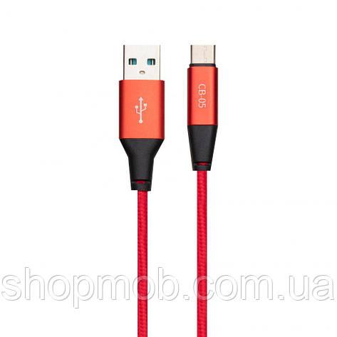 USB кабель для зарядки Celebrat CB-05 Micro Цвет Красный, фото 2