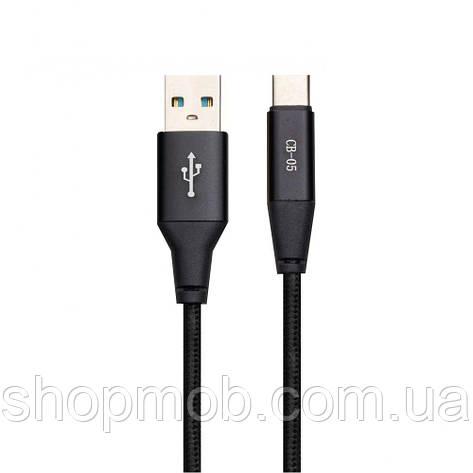 USB кабель для зарядки Celebrat CB-05 Type-C Цвет Чёрный, фото 2