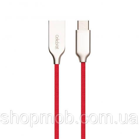 USB кабель для зарядки Celebrat CB-07 Type-C Цвет Красный, фото 2