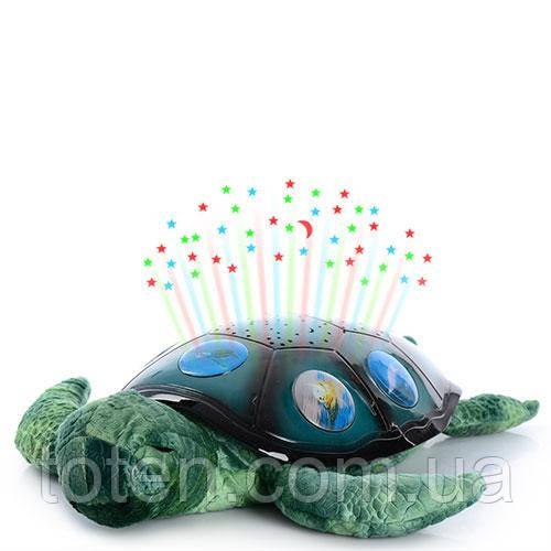 Ночник YJ 3 Морская черепаха 35 см, проектор ночные неба, 3 режима, на батарейке