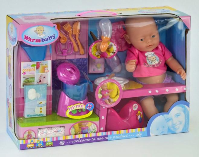 Пупс интерактивный кукла Warmbaby RT 05053