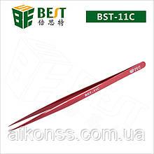BEST BST-11C Пинцет цветной 302 сталь закаленный наконечник HRC40 . Антикислотный антимагнитный