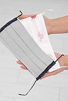Двошарова захисна маска з малюнком і принтом для особи на гумці, фото 2