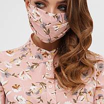 Двошарова захисна маска з малюнком і принтом для особи на гумці, фото 3