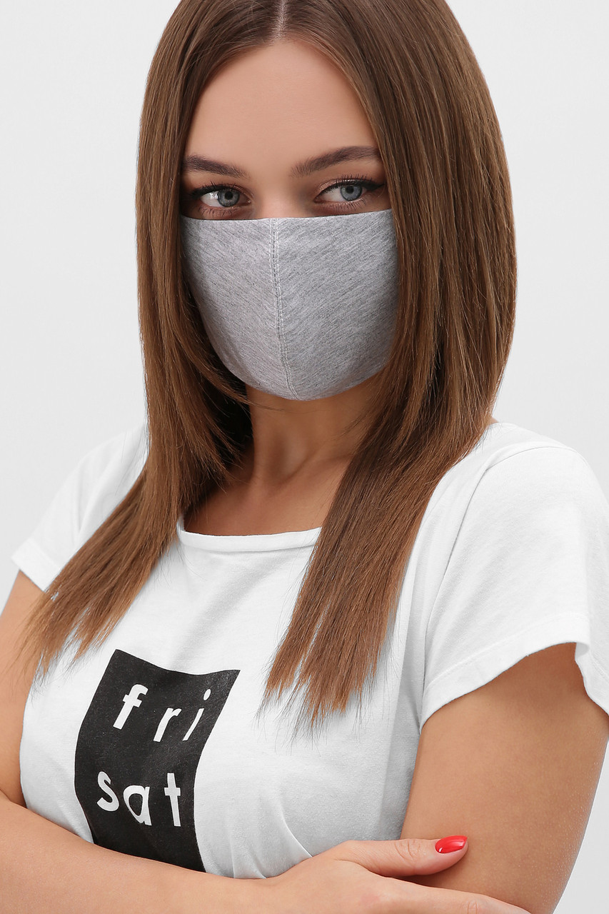 Багаторазова захисна чорна маска для обличчя на гумці