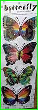Набор 3D бабочки для декора объемные интерьерные наклейки 1 набор/4бабочки
