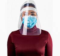 Защитный щиток экран маска для лица прозрачный пластик 36х32 см E30855, фото 1