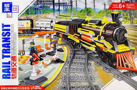 Железная дорога Конструктор Грузовой поезд с мотором. Qunlong QL0313, фото 2