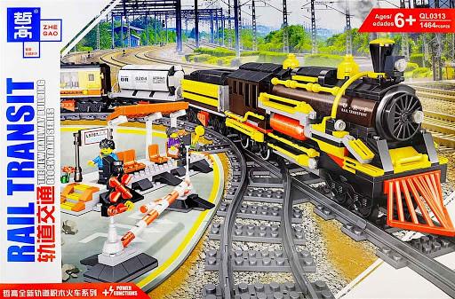 Железная дорога Конструктор Грузовой поезд с мотором. Qunlong QL0313
